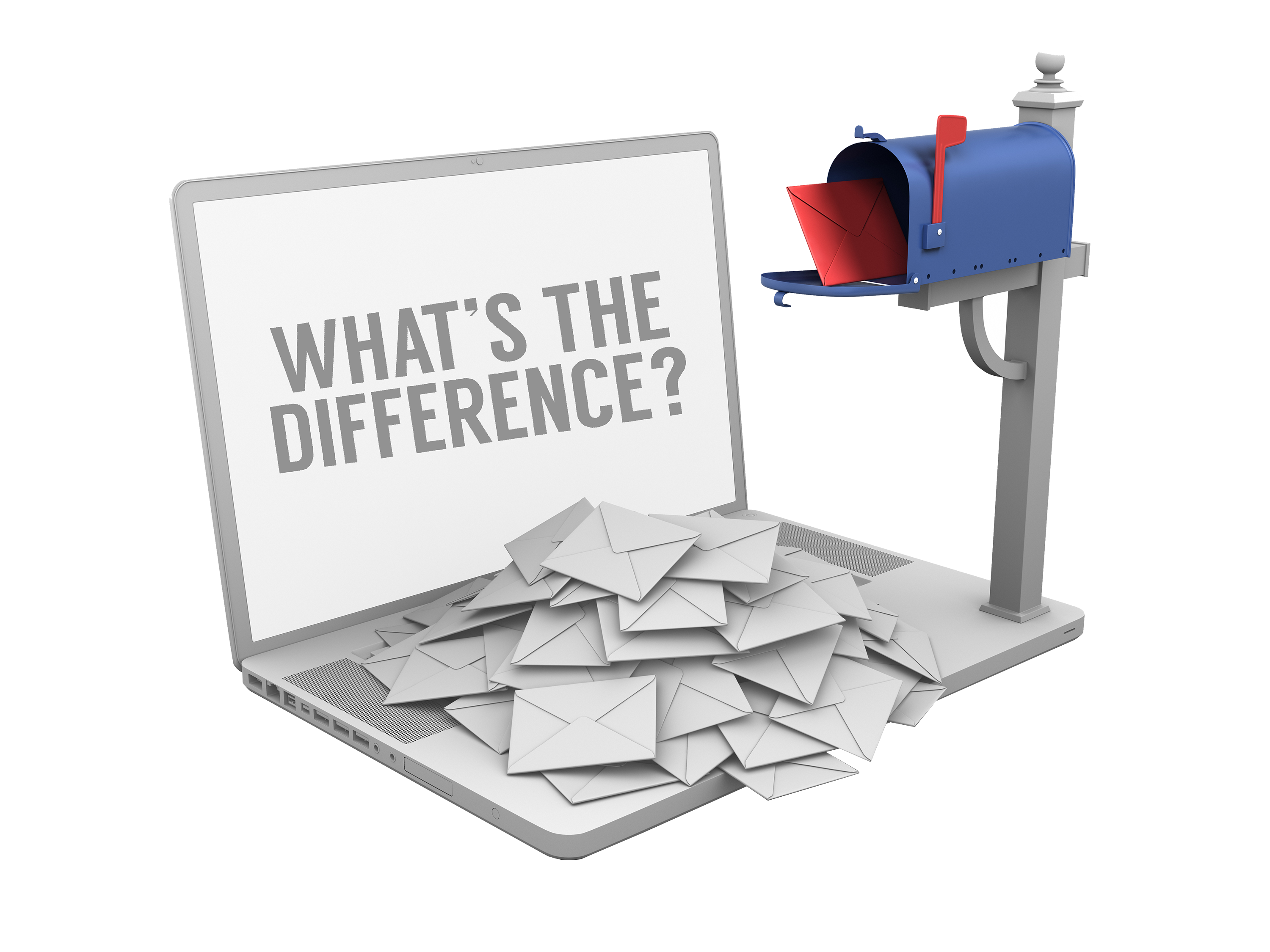 Differences between direct marketing services and direct mail